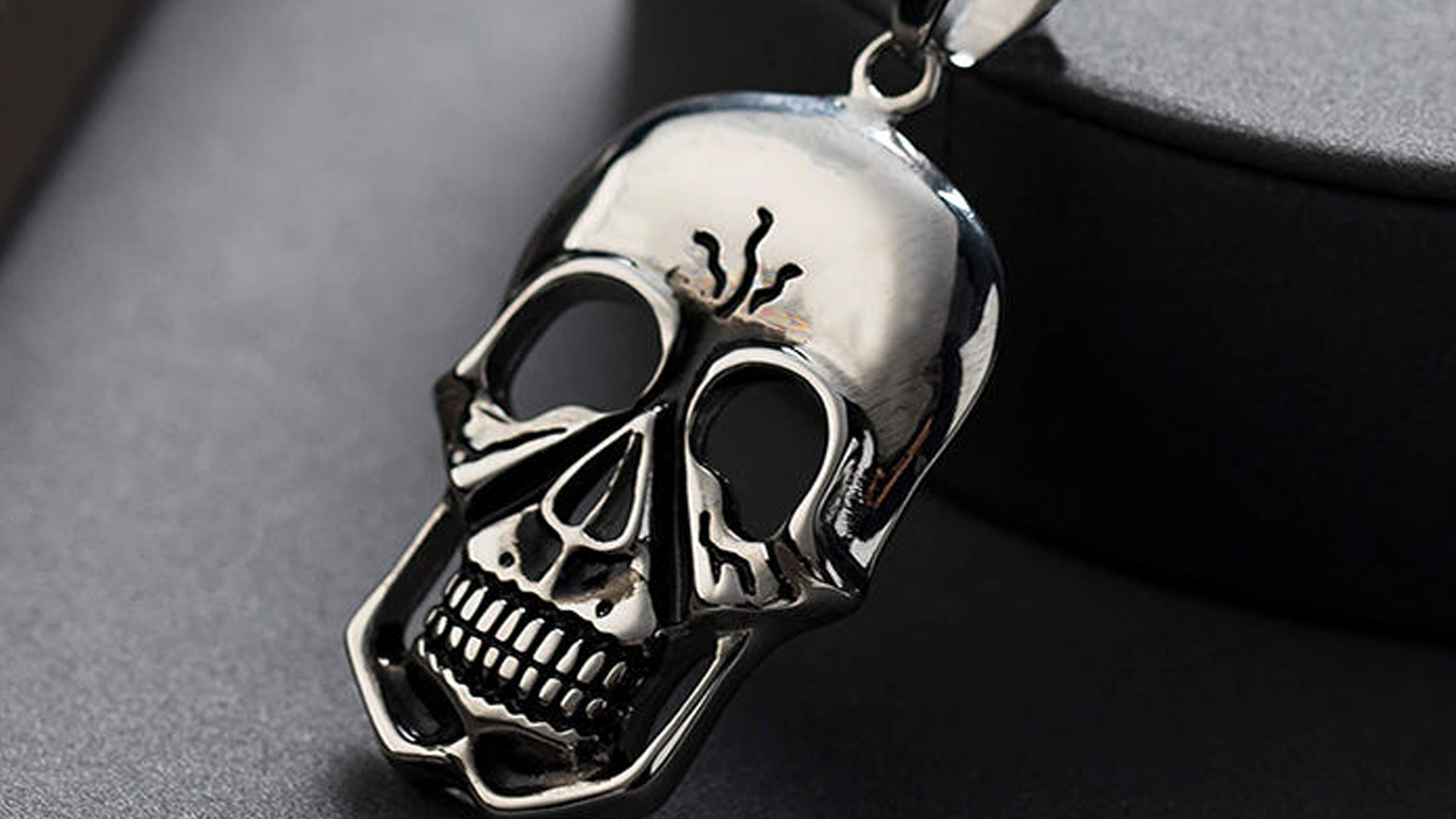 316L Stainless steel skull pendants(001)20210121
