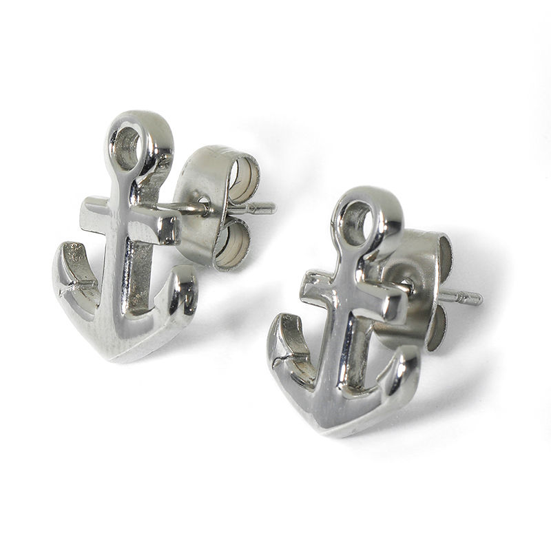 SEH-0005 stainless steel anchor earring
