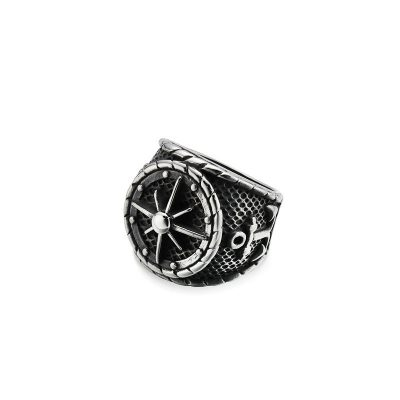 SJZ-0071 Stainless Steel Vintage Style ring