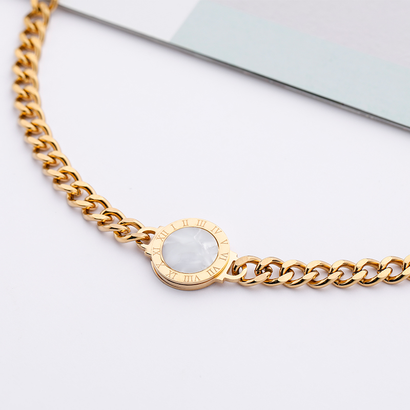 CHURINGASXL-0041 Stainless Steel Baroque Necklaces