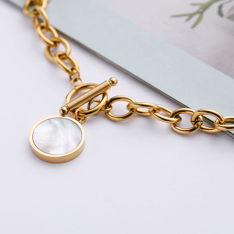 CHURINGASXL-0047 Stainless Steel Baroque Necklaces