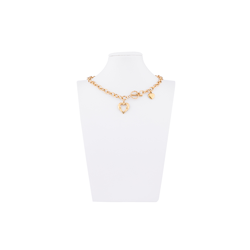 CHURINGASXL-0053 Stainless Steel Baroque Necklaces