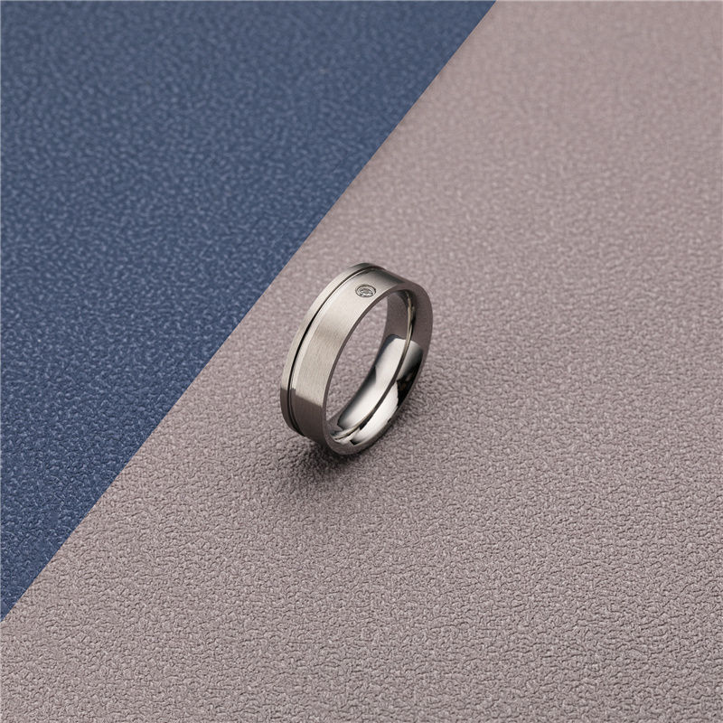 CHURINGASJZ-0165 Stainless Steel Blank Rings