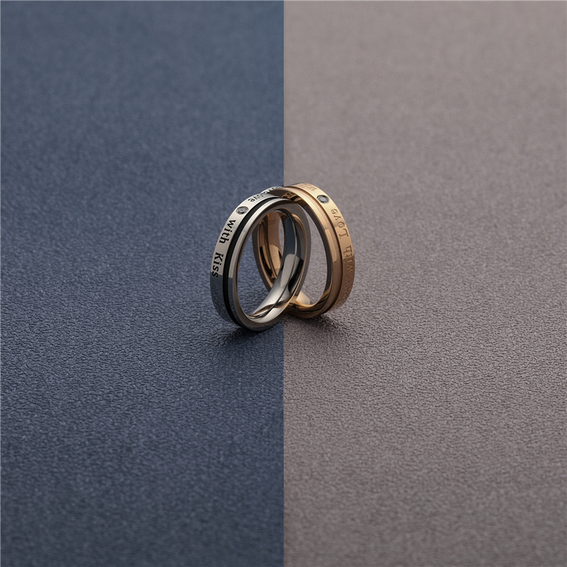 CHURINGASJZ-0166 Stainless Steel Blank Rings