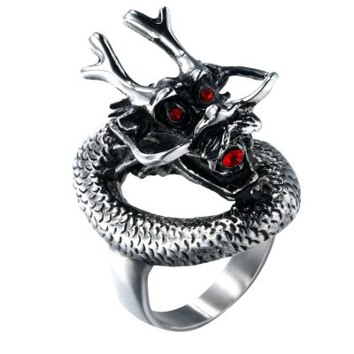 CHURINGASJZ-0048 Stainless Steel Dragon Rings