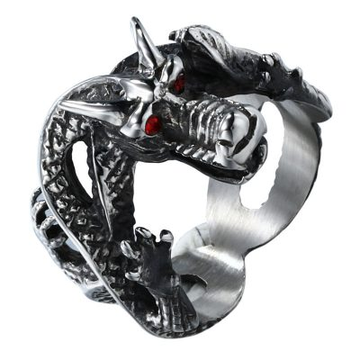 CHURINGASJZ-0049 Stainless Steel Dragon Rings