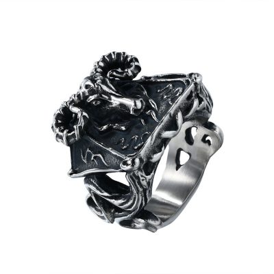 CHURINGASJZ-0068 Stainless Steel Baphomet Ring